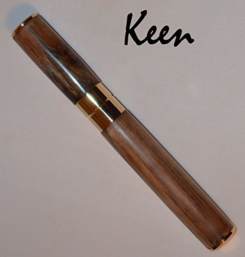 cd – Keen Handcrafted Handmade Louisiana Walnut Gold Cigar Holder