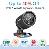 SANNCE AHD-720P CCTV Bullet Camera Build-in IR Cut Filter Superior Night Vision Outdoor Weatherproof Security...