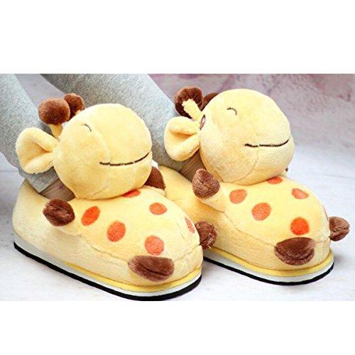 antidérapantes Girafe Chaudes de Pantoufles Mignonnes Maison Pantoufles Coton de d'hiver vYqOwwAx
