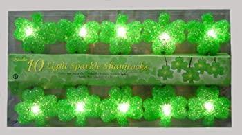 St. Patricks Day 10 Light Sparkling Shamrocks