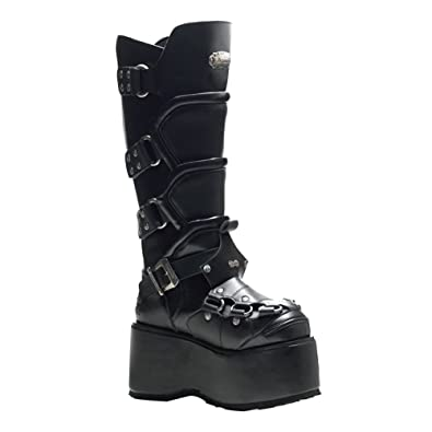 Amazon.com | 3 1/2 Inch MENS BOOTS Knee High Combat Boots Wedge ...