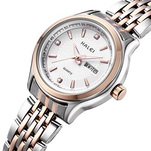 Caliente vender Genuine la Sra Sra. Luminoso de la marca reloj de pulsera reloj de pulsera banda de acero a la semana entre Relogio masculin: Amazon.es: ...