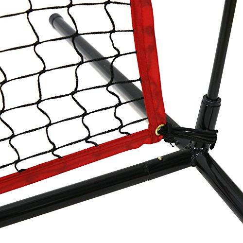 Super Deal 7'×7' Portable Baseball Softball Net w/Carrying Bag, Metal Bow Frame& Rubber Feet, for Training Hitting Batting Catching Practice by Super Dea (Image #5)