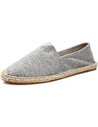 Unisex Breathable Canvas Shoes Slip-on Espadrilles Loafers Flats Shoes for Women Men (US Size 5-12)