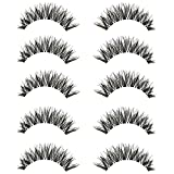 LQZ(TM) 5 Pair/Kit False / Fake Eyelashes Cross Natural Makeup Accessories (A)
