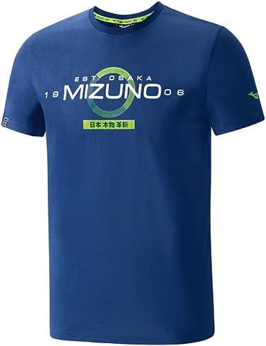 Mizuno Heritage Japan tee Camiseta de Running para Hombre Manga Corta, Hombre, Heritage Japan tee, Turquesa, Small: Amazon.es: Deportes y aire libre