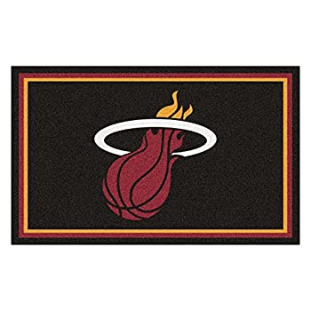 Image of FANMATS 20433 Team Color 44'x71' NBA - Miami Heat Rug