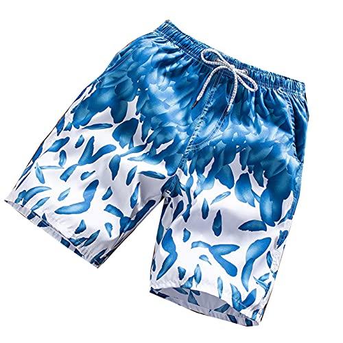 EQKWJ Zomer, mannen, strand, ademend, sneldrogend, losse shorts, mannen, Hawaii-print, korte broek, paar shorts mannen