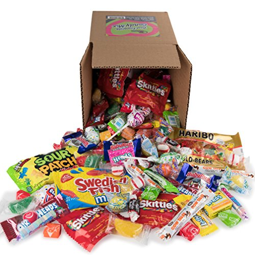 Your Favorite Party Mix Of Brand Name Candy! - 3 Pounds of Gold Bears, Tootsie Rolls, Skittles, Lemon Heads, Jaw Busters & More By Snackadilly (3Pound)
