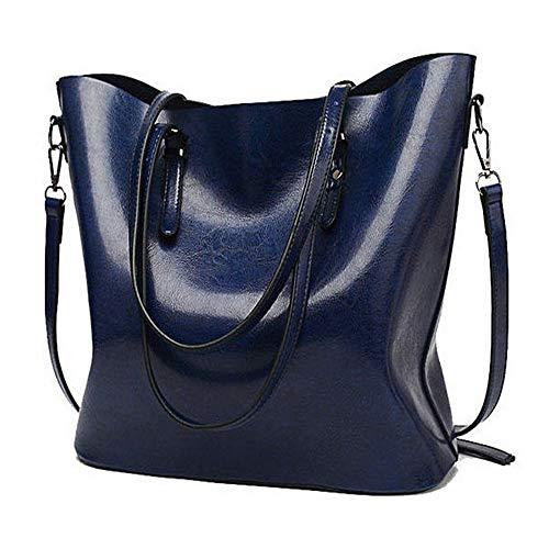 Sac à Taihang pour Grand l'huile à à de couleur bandoulière bandoulière sac cuir femme Vintage foncé bleu rqqfE5