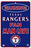 Texas Rangers Fan Man Cave Sign 8 X 12