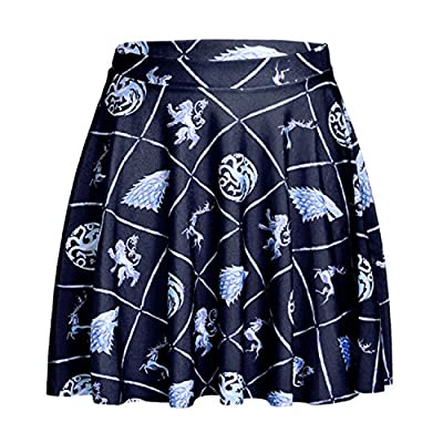 Lady Queen Women's Game of Thrones Win or Die Pleated A-Line Skirt Dress