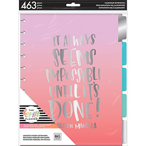 (me & my BIG ideas MONB-03 The The Happy Planner Month Hourly Extension Pack Big, Multi)