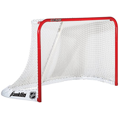 "Franklin Sports NHL ""The Cage"" Steel Ice Hockey Goal – 72 x 48 Inch"