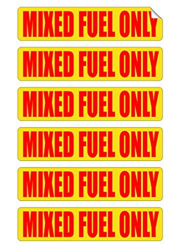 MIXED FUEL ONLY Automotive Decals | Gas Can Stickers | Truck Labels | Fuel Ratio 50:1 Vinyl Markers ()