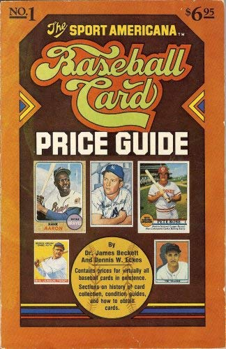 The Sport Americana Baseball Card Price Guide. Number 1. 1979. Paper.