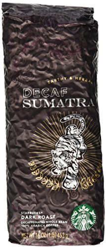 Starbucks Decaf Sumatra, Whole Bean Coffee (1lb)