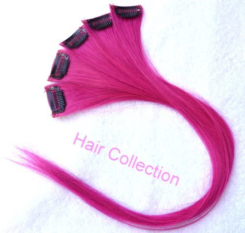 Amazon hair collection 18 hot pink 100 human hair clip in amazon hair collection 18 hot pink 100 human hair clip in on extensions 16widex5pcs real human hair pink beauty pmusecretfo Choice Image