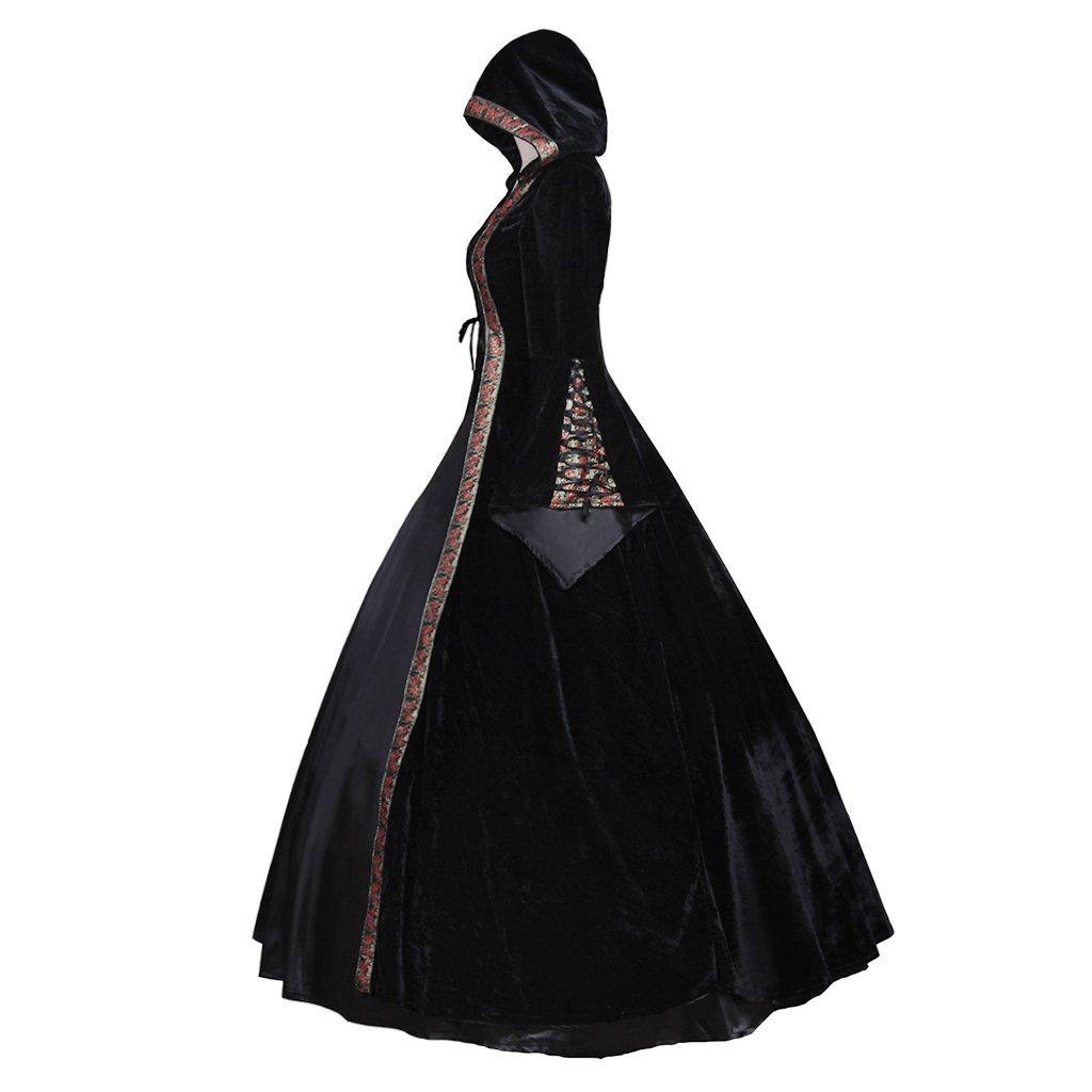 CosplayDiy Women's Deluxe Hooded Collar Victorian Dress Costume XXL by CosplayDiy (Image #3)