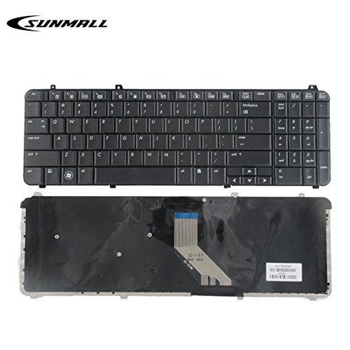 SUNMALL Keyboard Replacement Compatible with HP Pavilion dv6-1000 DV6-1100 dv6-1200 DV6-1300 DV6-2000 DV6-2100 DV6Z-1100 DV6T-1200 DV6T-2000 DV6Z-2000 Series Laptop Black US Layout(6 Months Warranty)