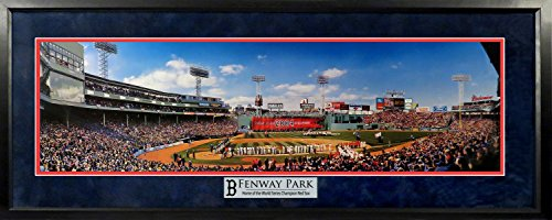 Boston Red Sox Fenway Park 2004 WS Championship Ring Ceremony Panoramic (Deluxe) Framed