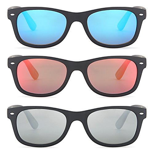 8532d2d0606 GAMMA RAY CHEATERS Best Value Polarized UV400 Wayfarer Style Sunglasses  with Mirror Lens and Multi Pack