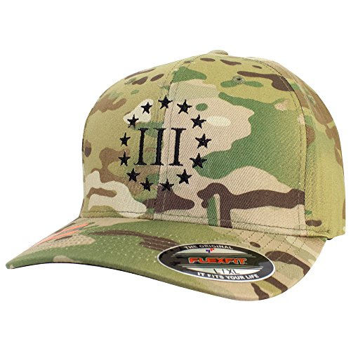 (USAMM Three Percenter Multicam Flex Fit Hat (Multicam, S/M))