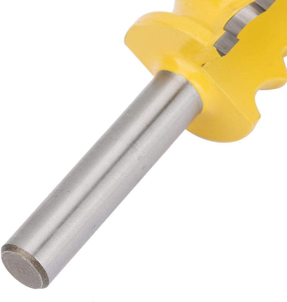Bit de routeur 8 mm Peu de routeur de main courante de queue de poisson de travail du bois de tige Fraise de finition de bord