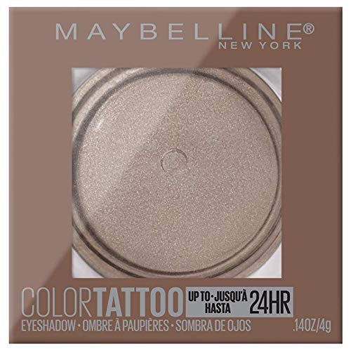 Maybelline New York Color Tattooup to 24HR Longwear Waterproof Fade Resistant Crease Resistant Blendable Cream Eyeshadow Pots Makeup, High Roller, 0.14 oz.