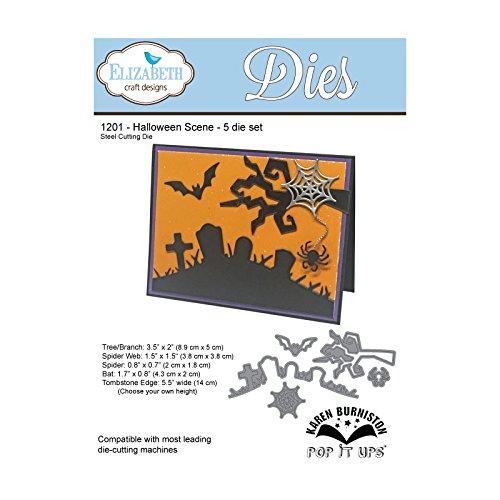 DIE588Y Halloween Scene Steel Die for Scrapbooking
