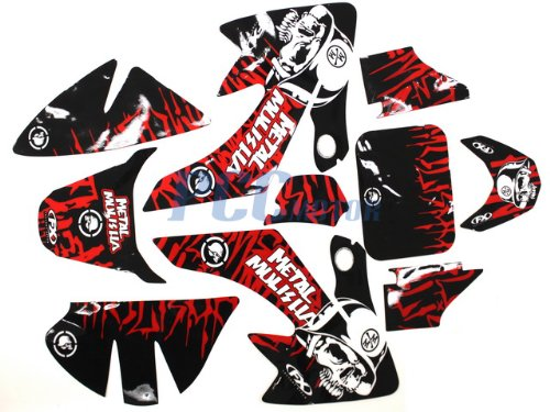 Kit Graphics Decal (10Z GRAPHICS DECALS STICKERS KIT HONDA CRF50 SDG SSR 107 110 125 PIT BIKE DE59)