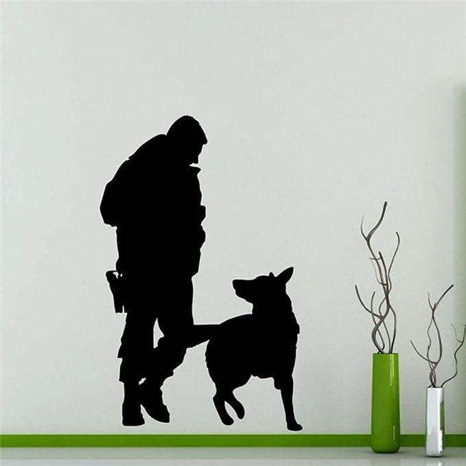 Oficial De Policía Perro Etiqueta De La Pared Decoración Para El ...