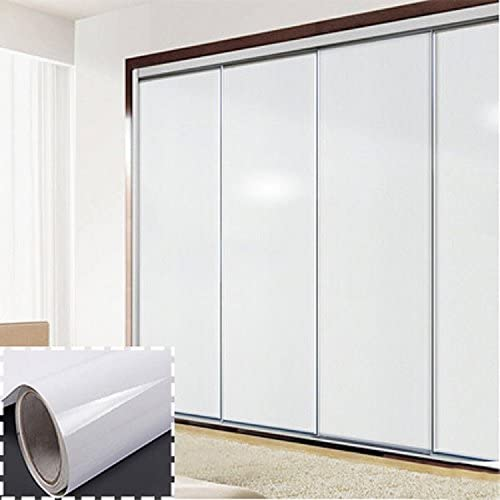 0,61 m * 10 m cocina PVC impermeable Refurbished pegatinas para armarios armario – Reelva autoadhesivo adhesivo blanco: Amazon.es: Hogar