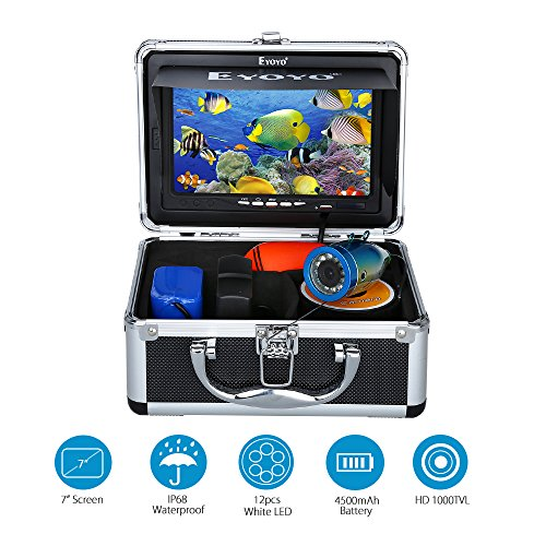 Eyoyo Original 30m Professional Fish Finder Underwater Fishing Video Camera 7″ Color HD Monitor 1000TVL HD CAM Lights Control For Sale