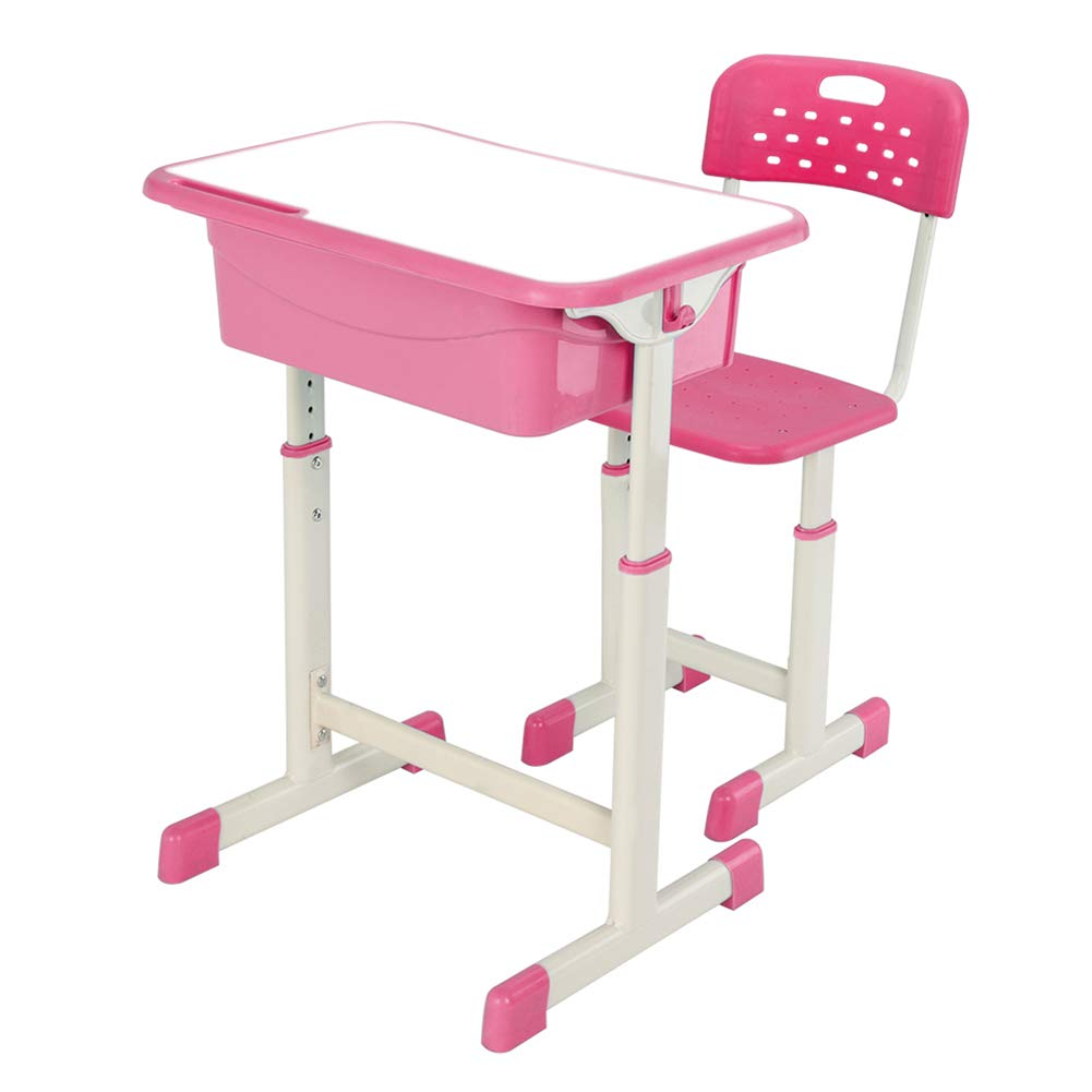 Blacgic Adjustable Table and Chair Set Lifting Student Desk for Essential Learning Child Workstation Storage Study by Blacgic (Image #8)