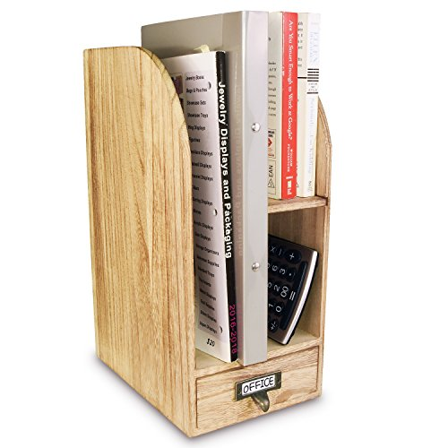 Ikee Design Adjustable Wooden Desk Organizer for Desktop Accessories & Office Supplies by Ikee Design