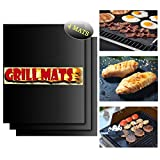 Thicken BBQ Grill & Baking Mats -Set of 4, Durable Reusable hundreds of Times Easy to Clean, Non-Stick Grilling Accessories,Heat Resistant,FDA-Approved, Works on Gas Charcoal Electric Grill&More UMOGI