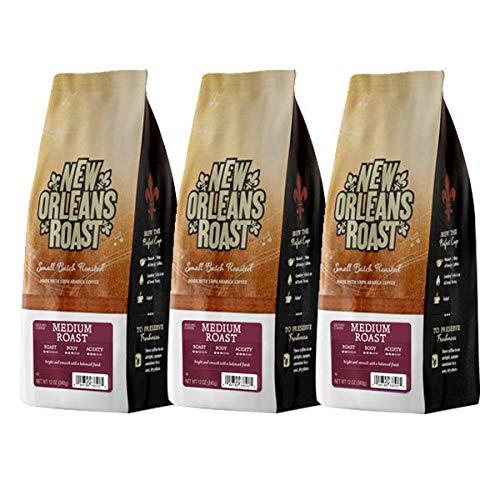 New Orleans Roast Coffee & Tea Roast Ground Coffee, Medium, Pack of 3 - Orleans New Coffee Roasted