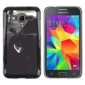 ROKK CASES / Samsung Galaxy Core Prime SM-G360 / LAMBO AVENTADOR / Delgado Negro Plástico caso cubierta Shell Armor Funda Case Cover