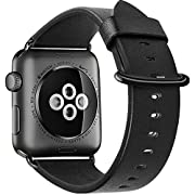 Amazon #DealOfTheDay: Apple Watch Band,XGUO Premium Genuine Leather Replacement Strap for Apple Watch Series 3 & 2 & 1