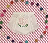 Infant Diaper Cover Baby Girl Monogram Diaper Cover Eyelet Cotton Baby Bloomers Personalized Baby Girl Diaper Cover