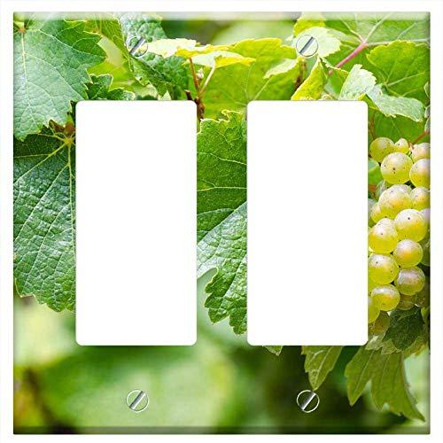 Switch Plate Double Rocker/GFCI - Riesling White Wine Grape Harvest Wine ()