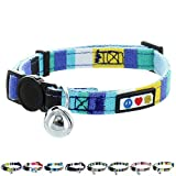 Pawtitas Pet Multicolor Cat Collar with Safety