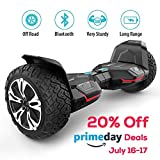 #2: Gyroor Warrior 8.5 inch All Terrain OFF ROAD Hoverboard with Bluetooth Speakers and LED Lights, UL2272 Certified Self Balancing scooter 2018