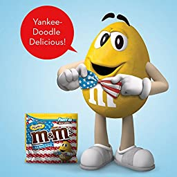 M&M\'S Red, White & Blue Peanut Chocolate Candy Party Size 42-Ounce Bag