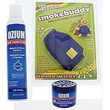 Smokebuddy Blue Original Personal Air Purifier with Ozium 8oz Aersol and Ozium 4.5oz Gel