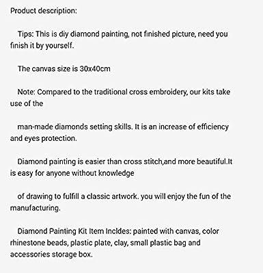 Trada DIY 5D Diamant Malerei Kit 5D DIY Diamant Malerei Stickerei Kreuz Handwerk Stich Wohnkultur Kunst Strass Kristall Stickerei Bilder Kreuzstich f/ür Home Wand-Dekoration
