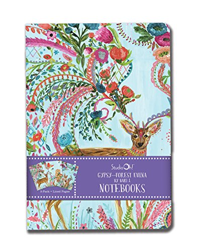 Price comparison product image Studio Oh! Notebook Trio,  Gold Foil Forest Fauna