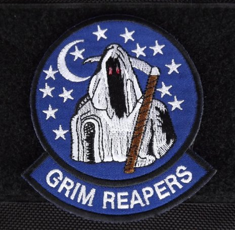 USAF AIR FORCE 4453RD TEST SQUADRON GRIM REAPERS NELLIS AFB Velcro Patch