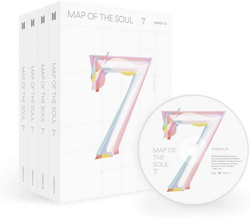 BTS Bangtan Boys - MAP of The Soul : 7 Album+Folded Poster+Extra Photocards Set (Version 1)